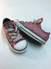 CONVERSE ALL STAR  Pink Animal Print Athletic Shoes Toddler Girls Size 7