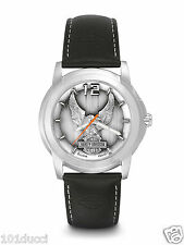 New Harley Davidson by Bulova #76A12 Leather Men's Watch
