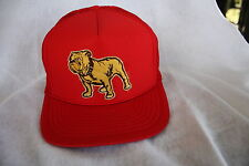 MACK TRUCKS BULL DOG HAT, EMBROIDERY PATCH    COLOR   (  RED ) NEW