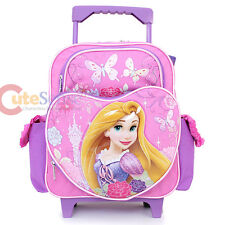 "Disney Princess Tangled Rapunzel 12"" Small School Roller Backpack Rolling Bag"