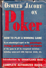 Oswald Jacoby on Poker HC DJ How to Play a Winning Game 1943 Grantland Rice