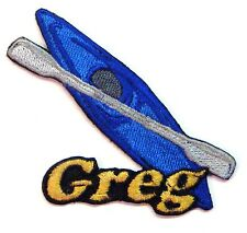 Iron-on Kayak Patch With Name Personalized Free