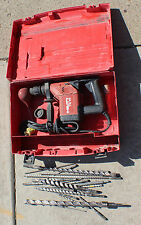 HILTI TE 15 CORDED ELECTRIC ROTARY HAMMER DRILL WITH BITS