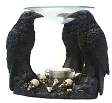 La nariz bowl 3 Cuervo con Calaveras Figura decorativa Gótico Bienestar Místico