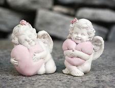 Engel 2er Set Schutzengel Glücksengel mit Herz Engelsfigur Engelfigur Figur