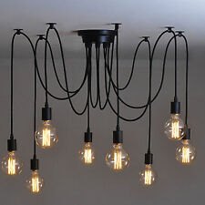 8 Heads Vintage Industrial Ceiling Lamp Edison Light Chandelier Pendant Lighting