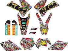 kit pegatinas ktm exc-sx 125-525 2005, 2006, 2007, sticker graphics