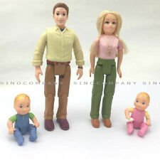 4pcs Fisher Price Loving Family Dollhouse 2006 Mattel Mom Dad Babies Dolls Toys