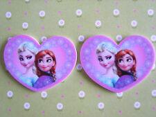 2 X Large Princesa Elsa Anna Corazón Resina Dorso duro para Libros planas, Adorno, arco de pelo
