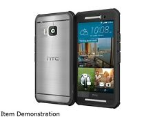 rooCASE Granite Black Glacier Tough Hybrid PC TPU Rugged Case for HTC One M9 (20