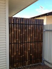 1.8M x 0.9M BAMBOO FENCE PANEL, PRIVACY SCREENS - BROWN - FULLY SCREWED QUALITY