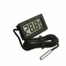 Digital LCD Indoor Temperature Thermometer Meter 80cm cable