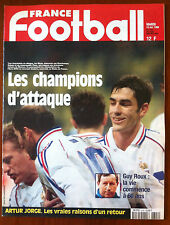 FRANCE FOOTBALL 13/10/1998; Artur Jorge/ Guy Roux/ les Bleus attaquent
