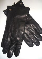 Men's Joseph Abboud 100% Cashmere Lined Genuine Leather Gloves, Black, Small