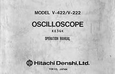 Hitachi V-422 V-222 Oscilloscope Operation Manual * CDROM * PDF