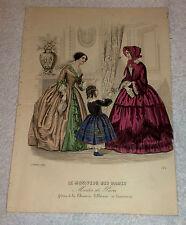 Stampa acquerellata Moda 1852