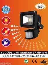 New  IP65 Black High Power PIR led flood Light -12  m range - 10W