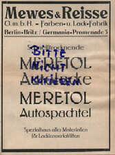 Berlín, publicidad 1927, Mewes & corazóna GmbH colores-pintura-fábrica meretol auto-barnices
