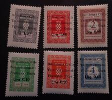 FIUME-WWII-FIUMANO KUPA-ITALY OCCUPATION OF YUGOSLAVIA-REVENUE STAMPS MNH 3