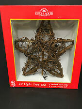 10 Light Rattan Star Tree Topper  Rustic/Country Decor  New In Box