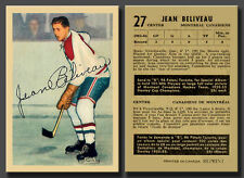 Jean Beliveau Rookie Reprint , #27 Parkhurst 1953-54, Mint Condition