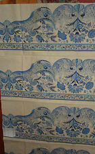 PIERRE FREY CHINA BLUE 1 FABRIC SAMPLE w/ TAG FRANCE 100% COTTON WILLOW 2331