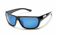 New Suncloud Feedback Sport Polarized Sunglasses Black Blue by Smith Optics