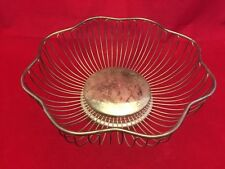 """New listing International Silver Co-10"""" Inch Silverplate Metal Wire Frame Basket/Fruit Bowl"""