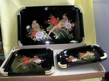 NEW IN BOX SET OF 3 JAPANESE TRAYS BY PHILIP  VINTAGE MADE IN JAPAN RARE