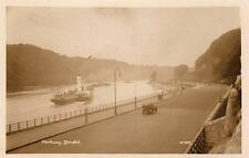 Portway Bristol Paddle Steamer Motor Car RP old pc used 1927