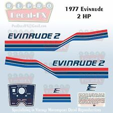 1977 Evinrude 2 HP Outboard Reproduction 9 Piece Marine Vinyl Decals 2702