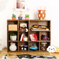 Retro Vintage Wood Cabinet Perfume Display Storage Hanging Wall Shelf Organizer
