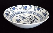 "VINTAGE, J & G MEAKIN, BLUE NORDIC, CLASSIC WHITE, SERVING BOWL ""PERFECT"""
