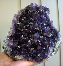 Georges Amethyst Geode Quartz Cluster Cathedral Display Specimen from Uruguay
