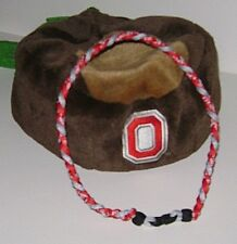 """Ohio State Buckeyes 3 Rope Titanium Sport Paracord Necklace- XL 22"""" Red & Gray!"""
