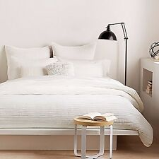 DKNY City Pleat Full/Queen Duvet Cover in White