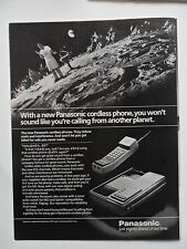 1985 Print Ad PANASONIC Cordless Phone ~ Barbecue on the Moon