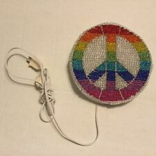 BEADWORX by GRASS ROOTS COOL RAINBOW PEACE SIGN NIGHT LAMP NWT