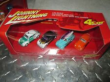 Johnny Lightning 4 Car Set, Volkswagen, VW, Beetles, Bugs surf 1 white 1:64 SURF