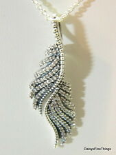 NEW! AUTHENTIC PANDORA MAJESTIC FEATHERS NECKLACE #390373CZ  HINGED BOX INCLUDED