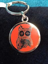NEW Hooters Keychain With Owls on one side and Hooters on the other New in Bag