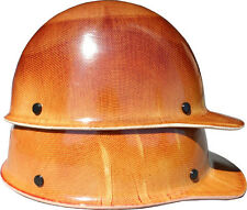 Jumbo Large Shell Skullgard Cap Style w/ Ratchet Suspension - Natural Tan Color