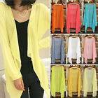 POP Womens Casual Long Sleeve Cardigan Very Thin Sweater Coat Outwear Tops Hot