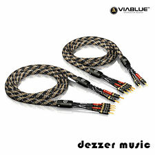 ViaBlue 2x 3,00m SC-4 Bi-Wire T6s Banana HIGH END Lautsprecherkabel / 3...TOP