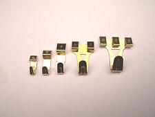Wandhaken Bildhaken  Größe 3   8 Haken mit Nägel  Stahl vermessingt