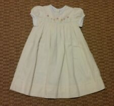Strasburg girls yellow and white gingham short sleeve dress size 2 Y
