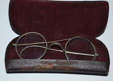 A pair of Antique Spectacles Glasses in Case - FREE Shipping  [PL3071]