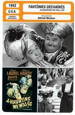 FICHE CINEMA : FANTOMES DECHAINES - Laurel & Hardy 1942 A-Haunting We Will Go