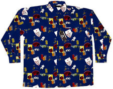Las Vegas Long Sleeve Casino Shirt, Navy, Big 5X