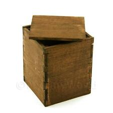 Dolls House Miniature Large Dark Wood Packing Case